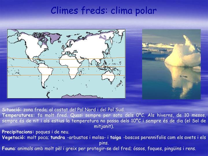 Climes freds: clima polar