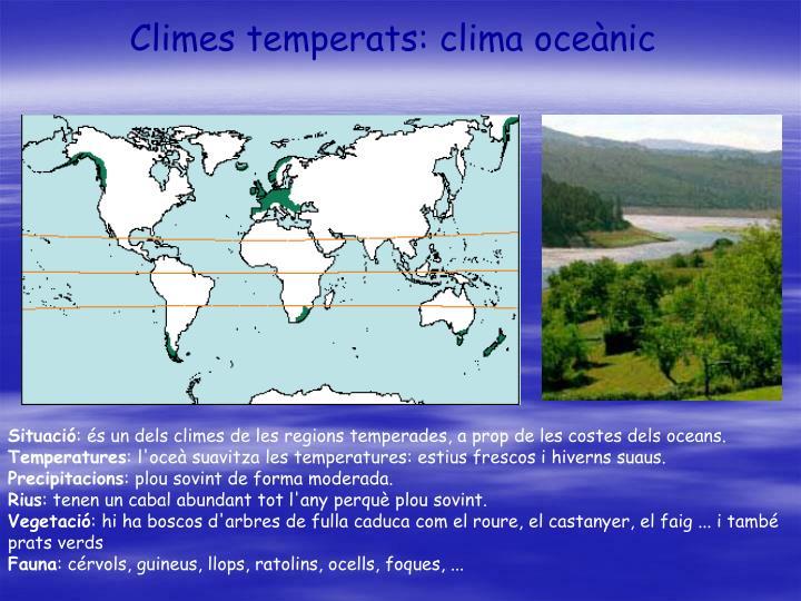 Climes temperats: clima oceànic