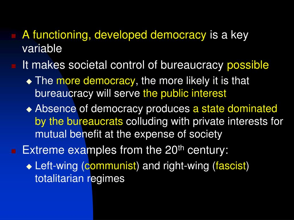 A functioning, developed democracy
