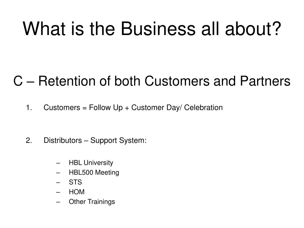What is the Business all about?