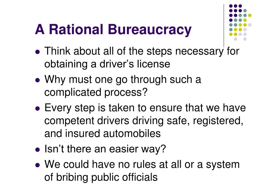 A Rational Bureaucracy