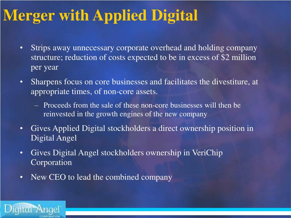 Merger with Applied Digital