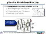 gdensity model based indexing