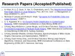 research papers accepted published