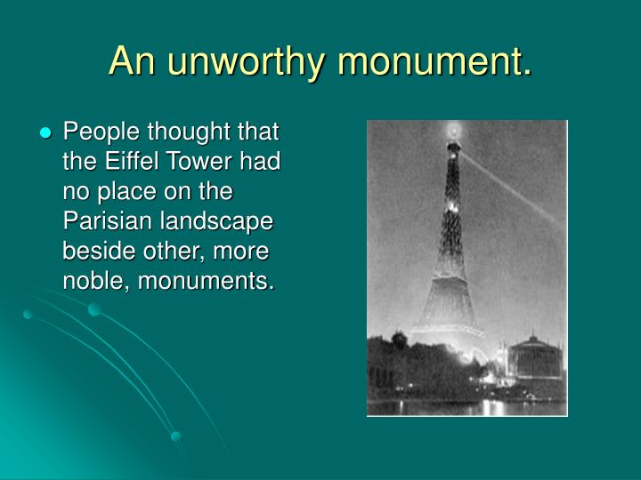 An unworthy monument.