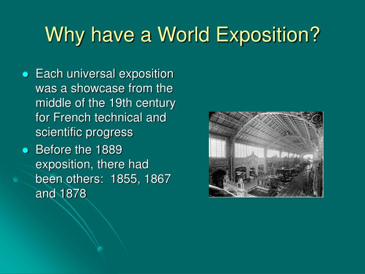 Why have a World Exposition?