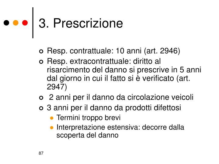 3. Prescrizione