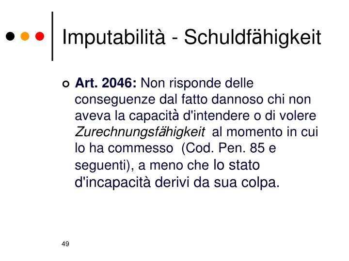 Imputabilità -