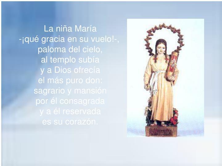 La niña María