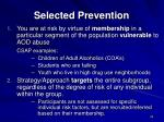 selected prevention