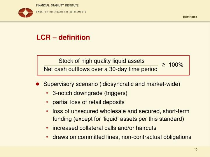 LCR – definition