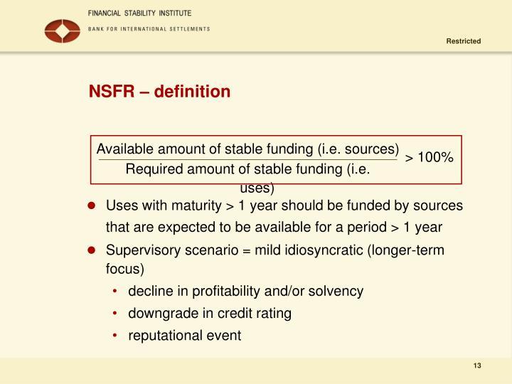 NSFR – definition