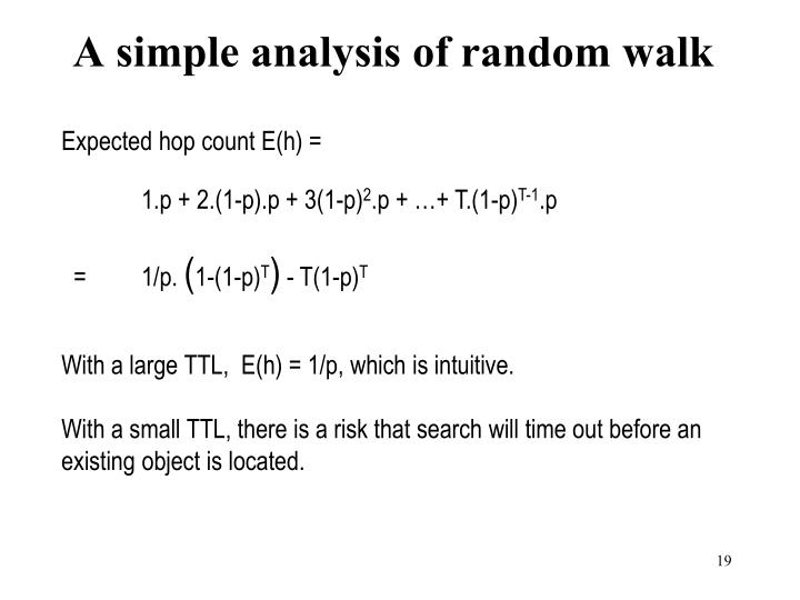 A simple analysis of random walk