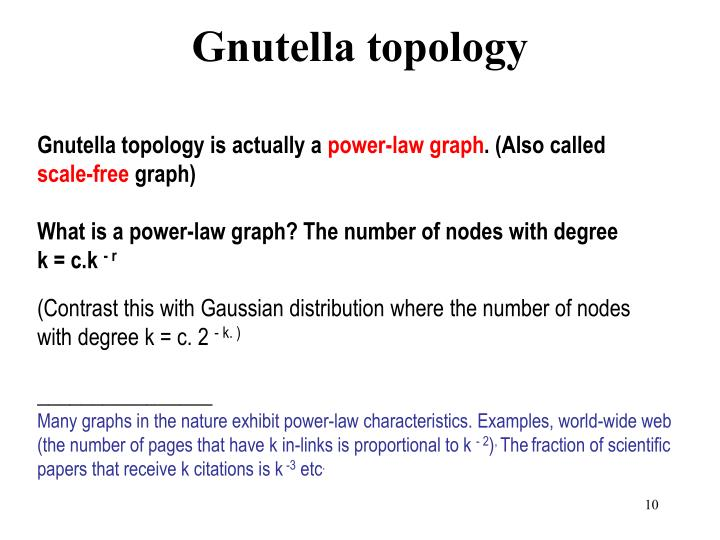 Gnutella topology