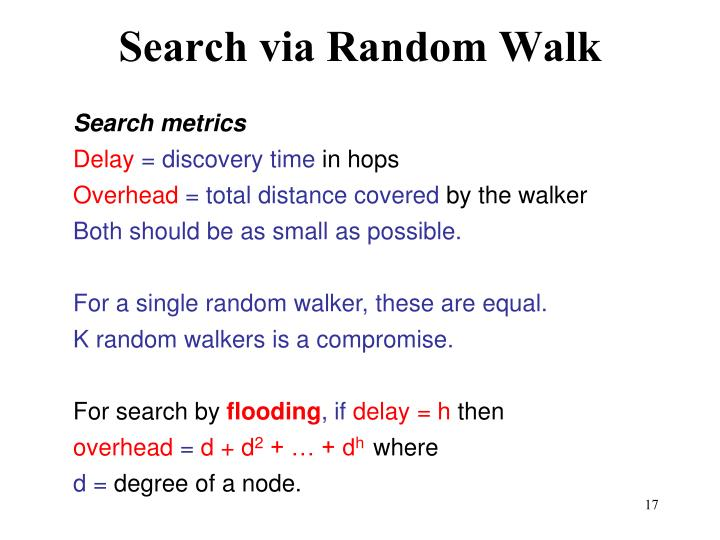 Search via Random Walk