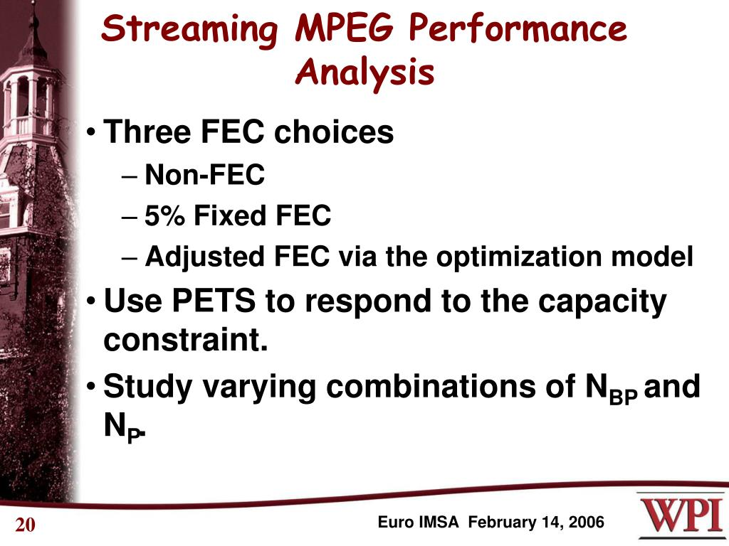 Streaming MPEG Performance  Analysis