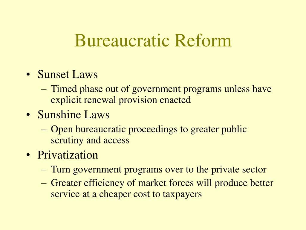Bureaucratic Reform