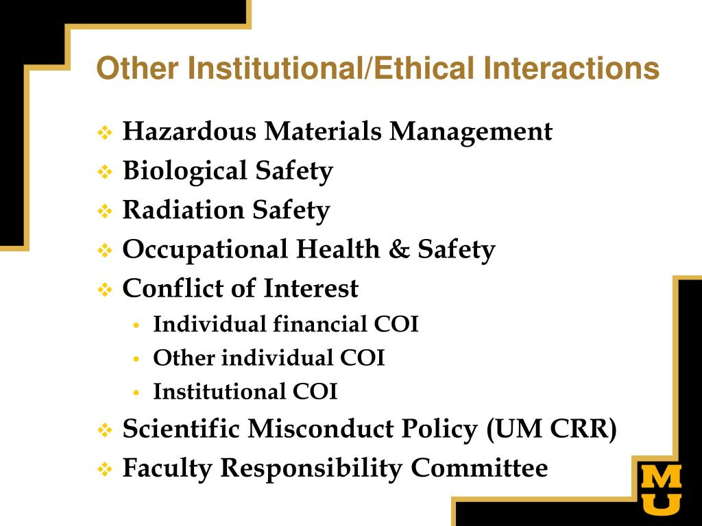 Other Institutional/Ethical Interactions