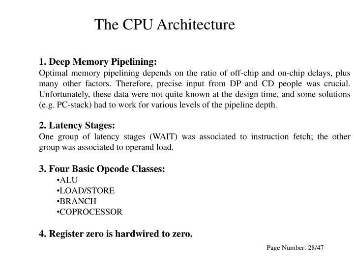 The CPU Architecture