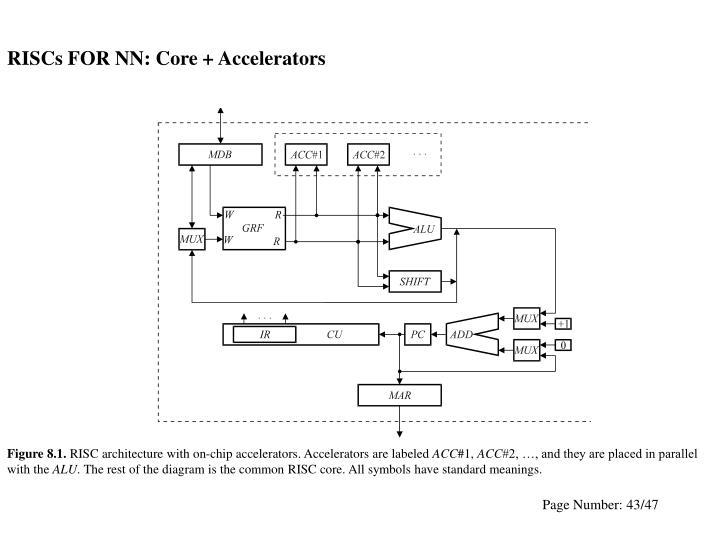 RISCs FOR NN: Core + Accelerators