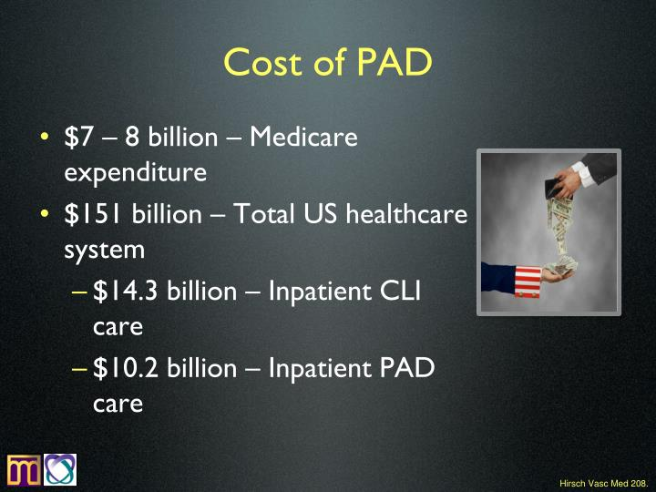 Cost of PAD