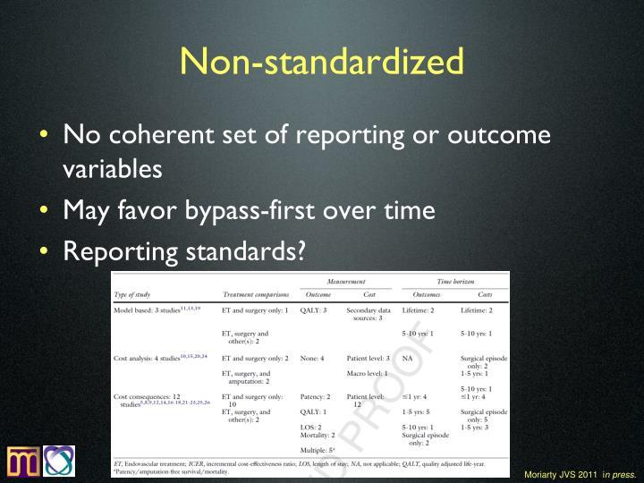 Non-standardized