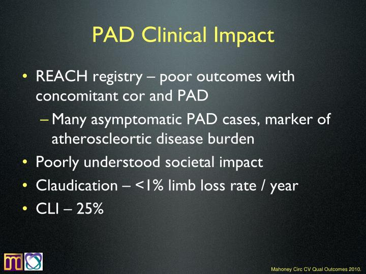 PAD Clinical Impact