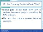 13 1 can financing decisions create value