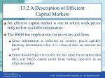 13 2 a description of efficient capital markets