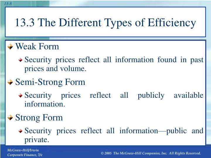 13.3 The Different Types of Efficiency