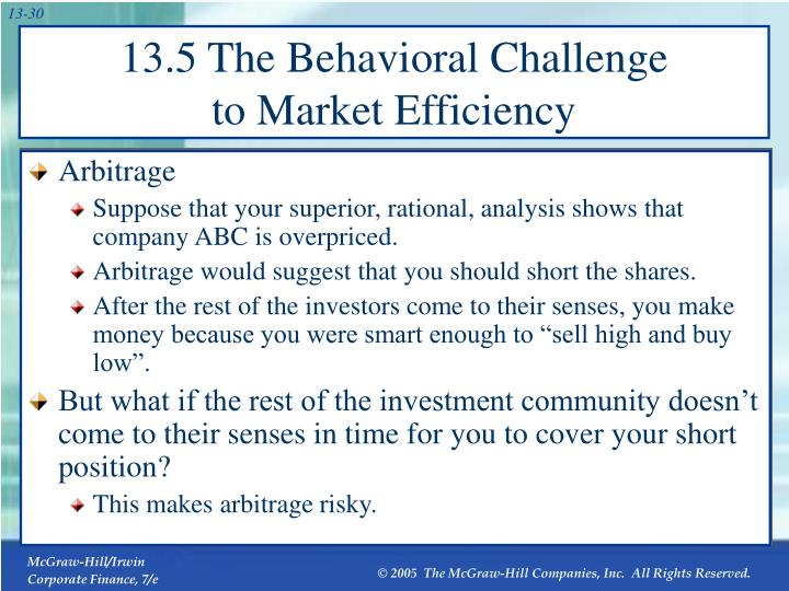 13.5 The Behavioral Challenge