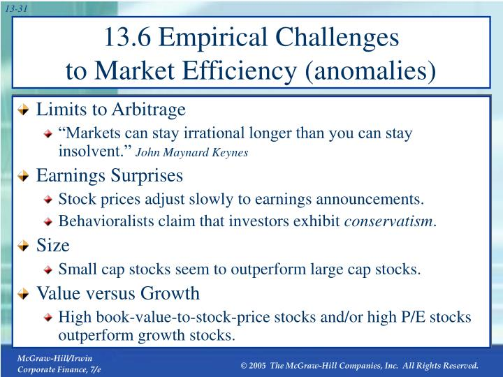 13.6 Empirical Challenges