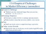 13 6 empirical challenges to market efficiency anomalies