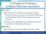 13 6 empirical challenges to market efficiency anomalies1