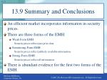 13 9 summary and conclusions