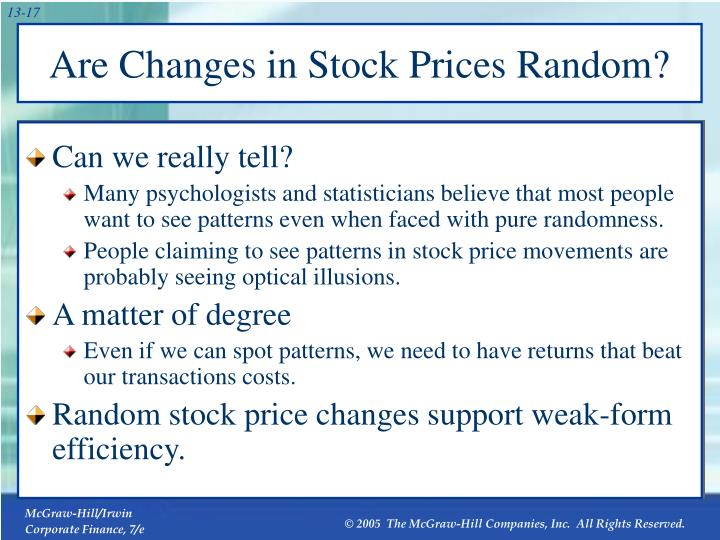 Are Changes in Stock Prices Random?