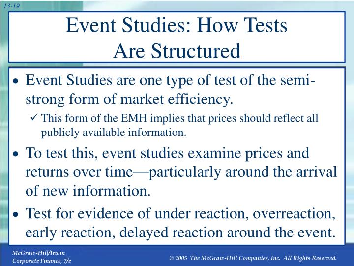Event Studies: How Tests