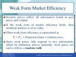 weak form market efficiency
