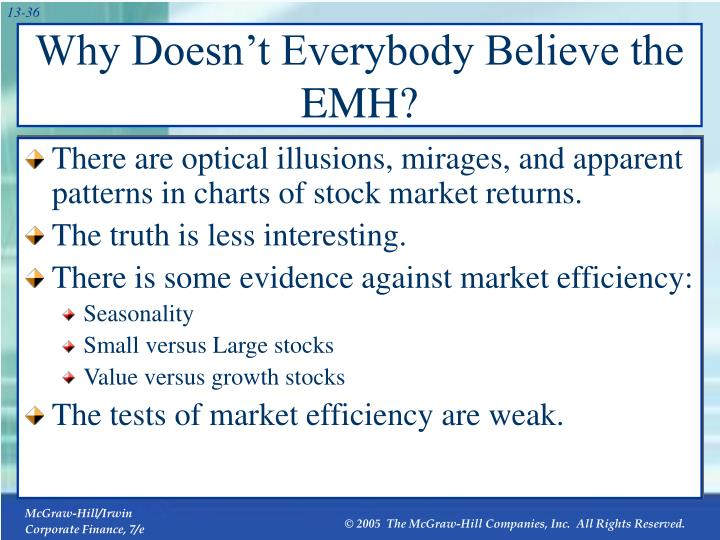 Why Doesn't Everybody Believe the EMH?