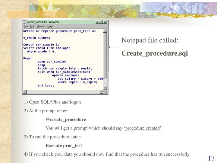 Notepad file called: