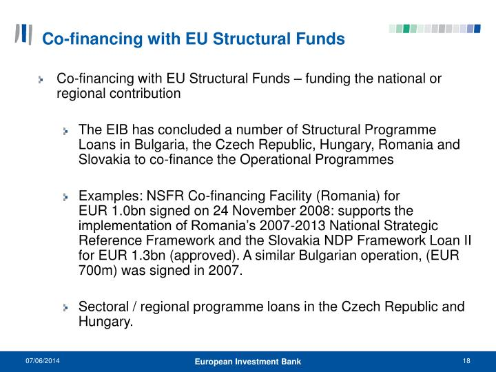 Co-financing with EU Structural Funds