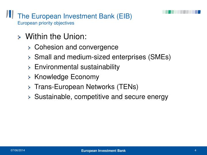 The European Investment Bank (EIB)