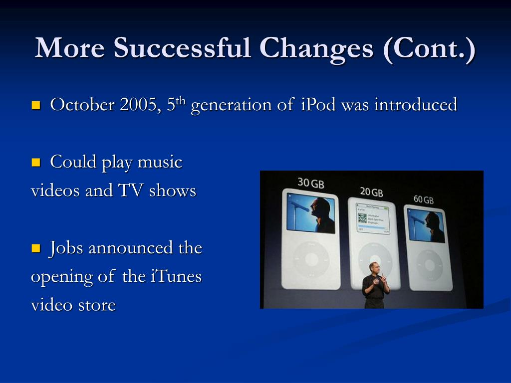 More Successful Changes (Cont.)