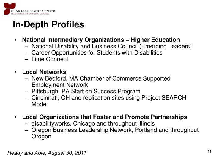 In-Depth Profiles
