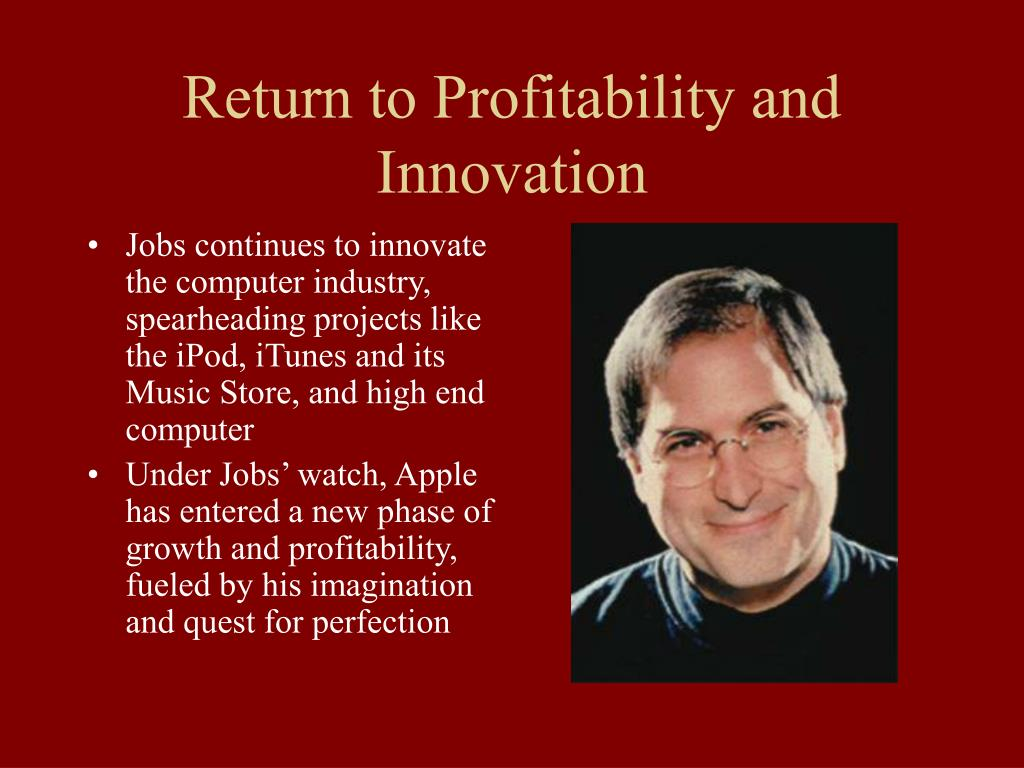 Return to Profitability and Innovation