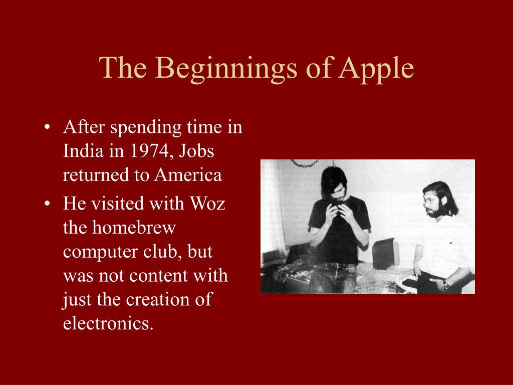 The Beginnings of Apple