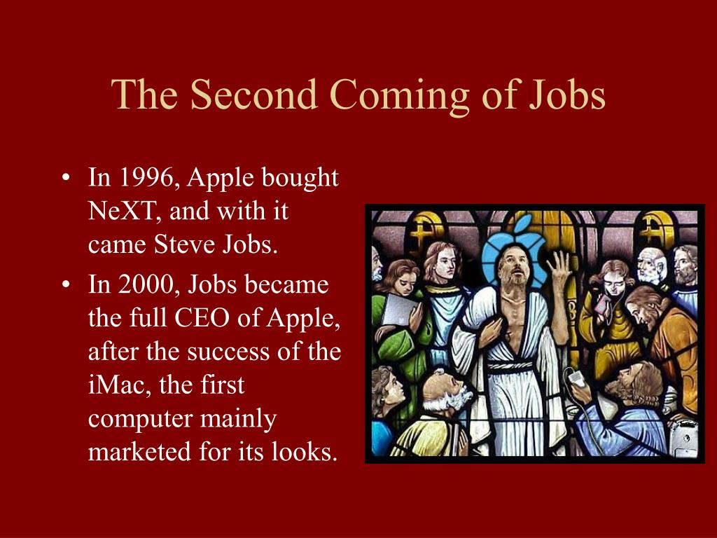 The Second Coming of Jobs