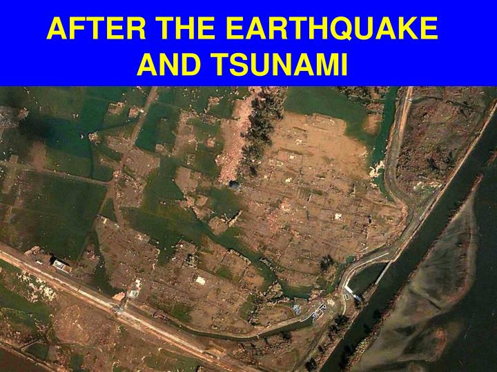 AFTER THE EARTHQUAKE AND TSUNAMI
