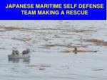 japanese maritime self defense team making a rescue