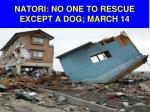 natori no one to rescue except a dog march 14